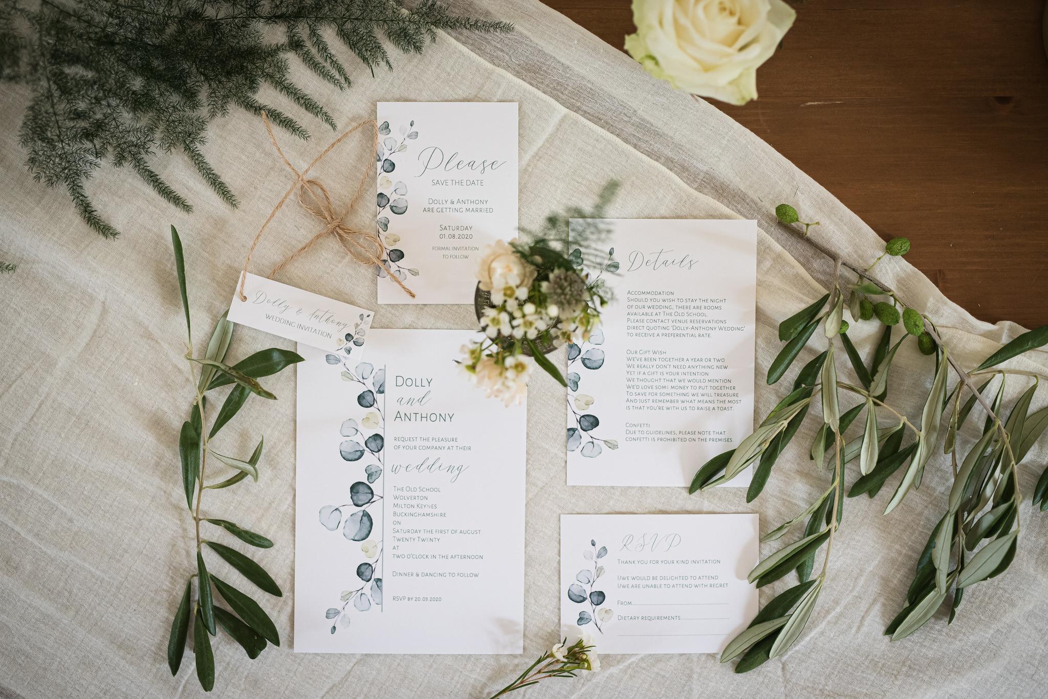 Luxury bespoke wedding invitations