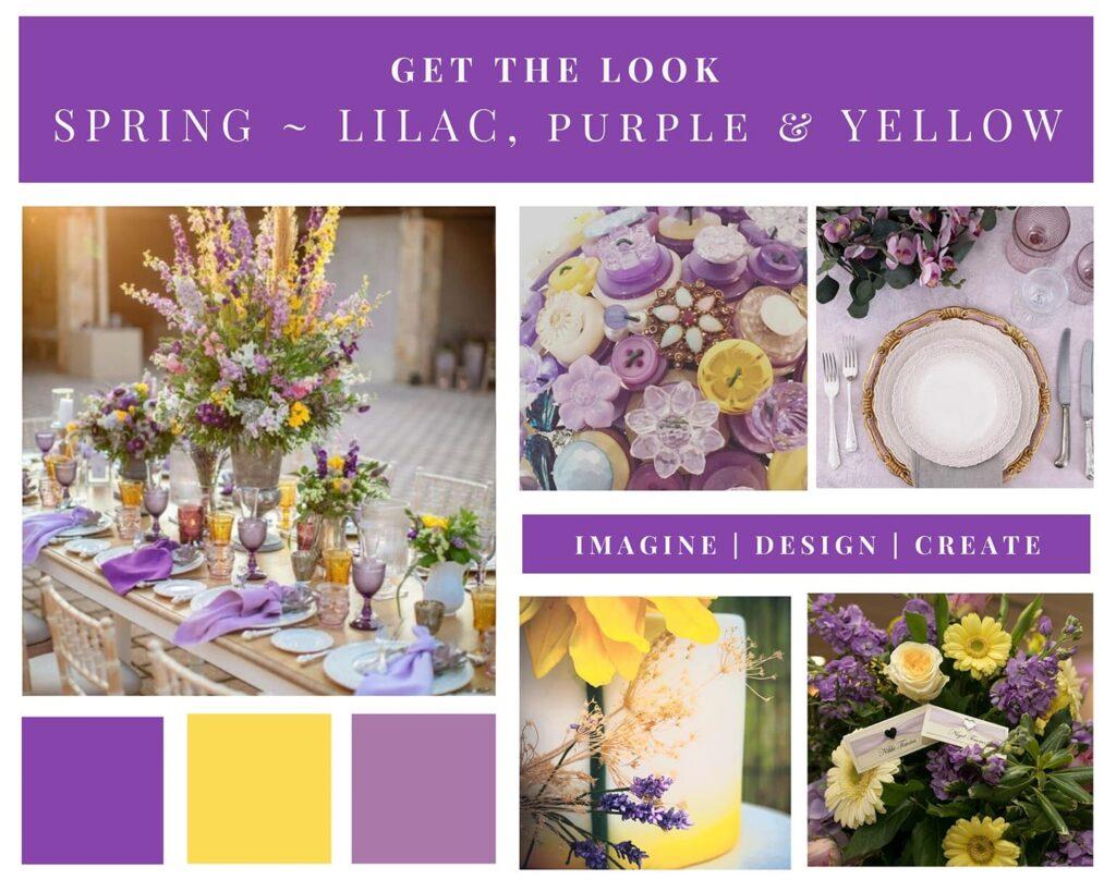 Spring wedding colour scheme