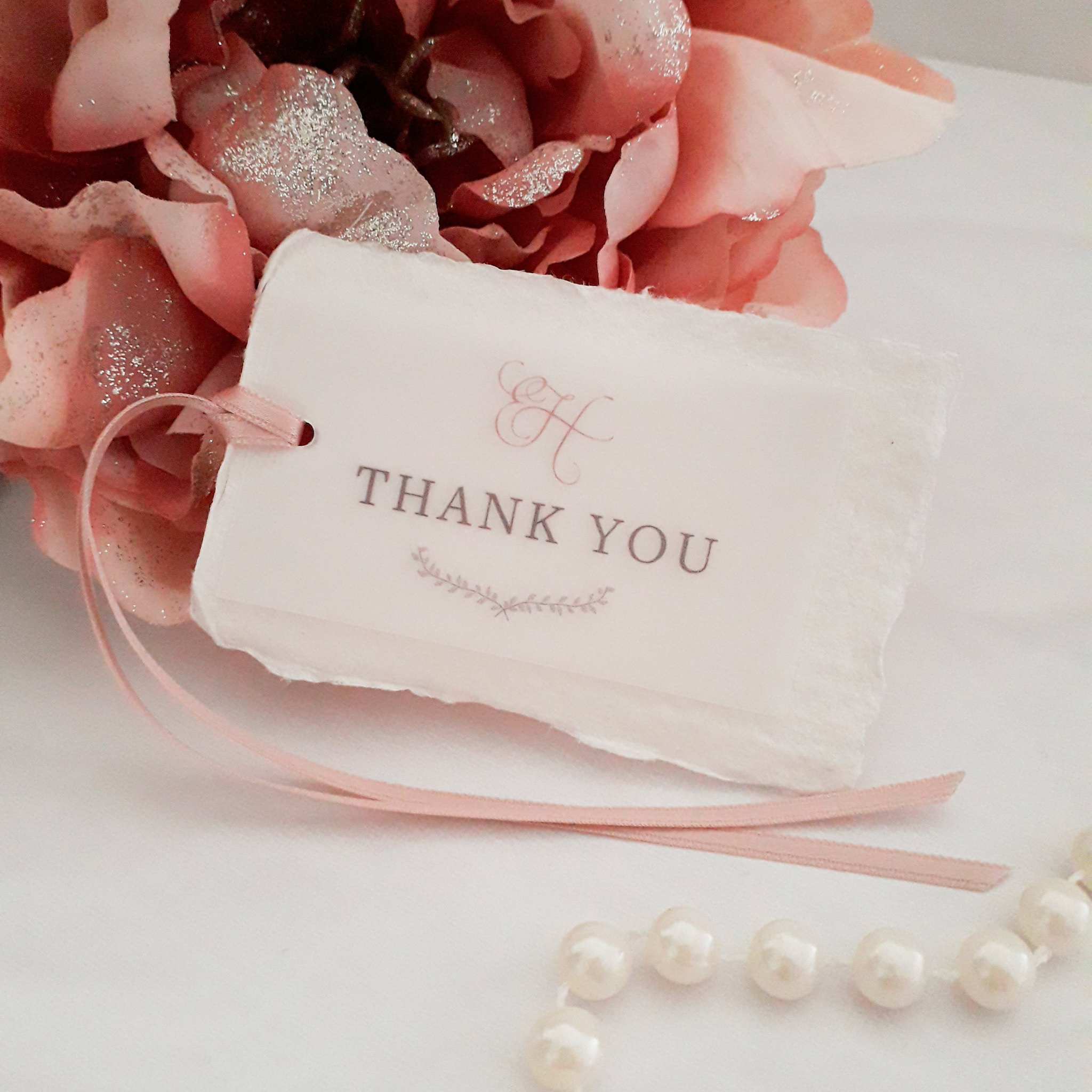 Bespoke business thank you tags